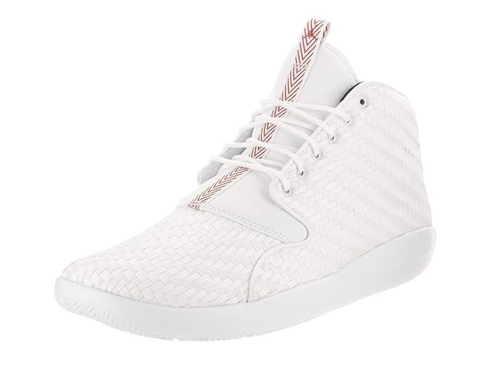 db1202aa332 Amazon.com | Jordan Nike Men's Eclipse Chukka White/Gym Red Black Basketball  Shoe 9 Men US | Basketball