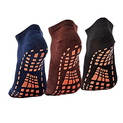 Sticky Grips Socks For Men 3 Pack Floors Non Skid Slip Yoga Pilates Slipper Sox