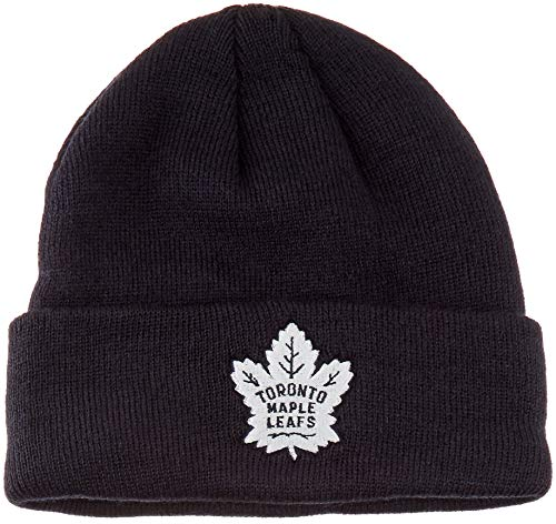 OTS NHL Toronto Maple Leafs Raised Cuff Knit Cap, Navy, X-Large ()