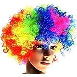 ボンバー アフロ 選べる カラフル カラー コスプレ ウイッグ 仮装 パーティ ハロウィン かつら (レインボー)