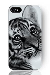 SPRAWL New Fashion Design Hard Skin Case Cover Shell for Mobile Phone Apple Iphone 4 4S 4G--Lovely Tiger Baby