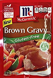 McCormick BROWN GRAVY Mix GLUTEN FREE .88oz (12 Packets)