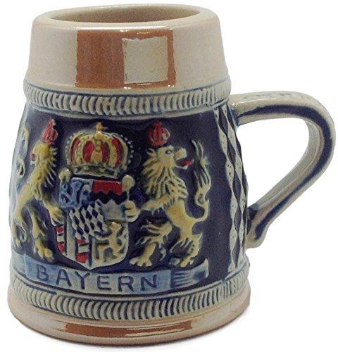 Engraved Beer Stein: Bayern Crown Shot