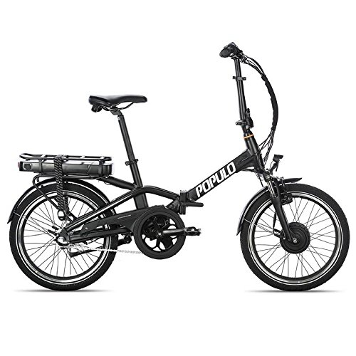 Populo Curve Folding Ebike, 350W Motor, 20 MPH Top Speed, 20 Mile Range, Removable Lithium Ion Battery Electric Bicycle For Sale