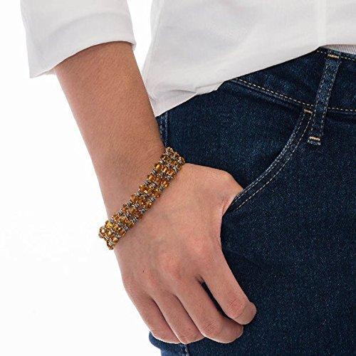 Topaz Crystal Sterling Silver Three Strand (Topaz Multi Strand Bracelet)