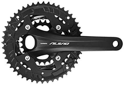1f34a3bd285 Image Unavailable. Image not available for. Color: SHIMANO Alivio FC-T4060  44/32/22 9-Speed Holllowtech II 175mm