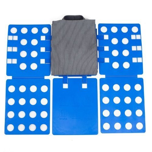 unbeatablesale168 Fast Speed Adjustable Folder Fast Clothes Folding Board with Carrying Bag, Blue