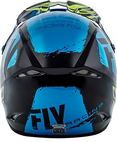 Fly Racing Blue/Black/Hi-Viz Sz XL Fly Racing Kinetic Burnish Hi-Viz Helmet