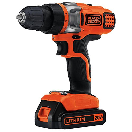 BLACK+DECKER LDX220C 20V MAX 2-Speed Cordless Drill Driver (Includes Battery and Charger) (Decker Black And Drill 20v)