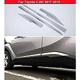 New 4pcs Chrome Side Door Body Molding Cover Trim For Toyota C-HR 2017 2018