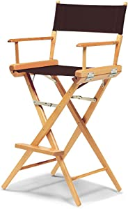 Telescope Casual World Famous Bar Height Director Chair, Brown with Varnish Frame