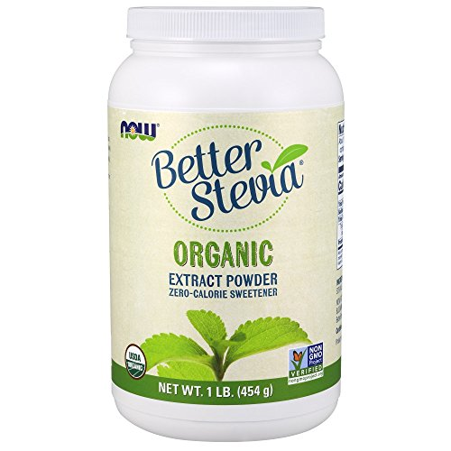 NOW Foods Organic Better Stevia Extract Powder, 16-Ounce -