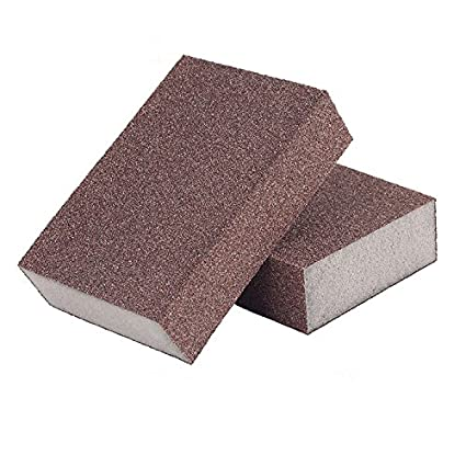 2PCS Sponge Sand Block Mahogany Jade Amber Grinding Polishing Sandpaper Sponge Elastic Grinding Block Rust CaiMei