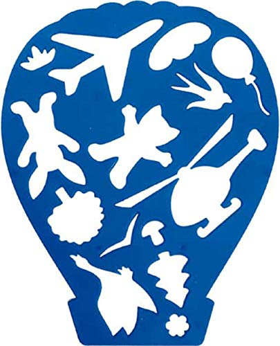 (Stencil for Kids Creativity, Drawing, Crafts or Hobby. Made in Russia. Made in Russia (Air Balloon))