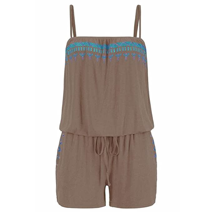 Womens Ladies Shorts Jumpsuit Romper Summer Beach Holiday Casual Mini Playsuit