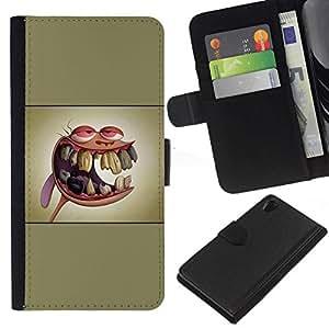 // PHONE CASE GIFT // Moda Estuche Funda de Cuero Billetera Tarjeta de crédito dinero bolsa Cubierta de proteccion Caso Sony Xperia Z2 D6502 / Ren & St1Mpy /