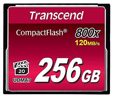 Transcend 64 Go Carte Mé moire CompactFlash (CF) UDMA 7 800x TS64GCF800 Carte mémoire