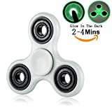 Tri Fidget Hand Spinner Glowing Premium High Speed Long Time Smooth Spin Balance Cool Finger Gadget Desk Toy Stress Reducer for EDC ADD ADHD Anxiety and Autism Kids Girl Boy Adult (Fluorescence)