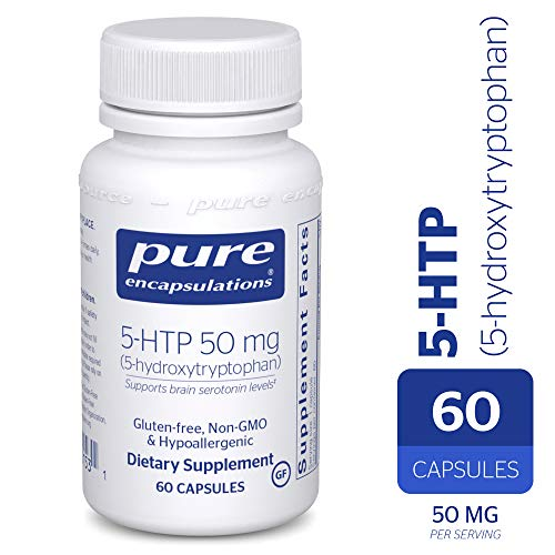 Enteric Coated 5 Htp - Pure Encapsulations - 5-HTP (5-Hydroxytryptophan) 50 mg - Hypoallergenic Dietary Supplement - 60 Capsules