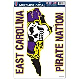 WinCraft East Carolina Pirates Official NCAA 11 inch x 17 inch Car Window Cling Decal by 517388