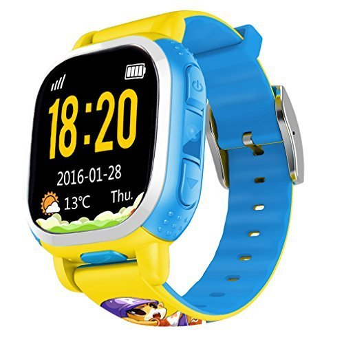 tencent-qq-watch-kids-gps-locating-wrist-smart-watch-phone-yellow