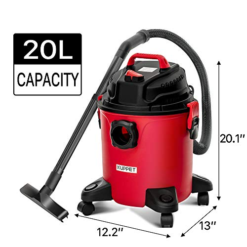 KUPPET 3-in-1 Wet/Dry Vacuum Cleaner, Shop Vacuum with Attachments, 5 Gallon, 5.5 Peak HP, 16Kpa Powerful Suction, 20L… 7