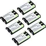 3.6V 3 AAA 850mAh Ni-MH HHR-P104 Battery Rechargeable Cordless Phone Replacement Battery for Panasonic HHR-P104 HHR-P104A 439031 KX-FG6550, KX-FPG391 KX-TG2303 KX-TG2312 TEL0006 (Pack of 6)