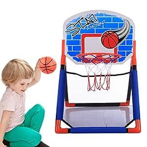 Tosbess Mini Juego de Baloncesto con Tablero Bola y Bomba Canasta ...