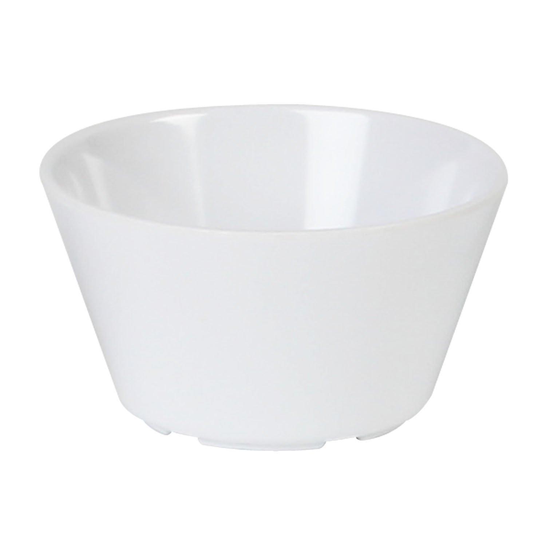 Excellanté Milan Melamine White Collection 3.875-Inch 8-Ounce Bouillon Cup, White, 12-Piece NS302W