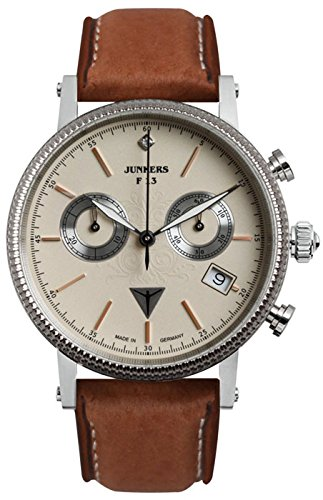 Junkers Expedition South America Lady Quartz Watch, Beige, 36 mm, Chrono, 6581-5