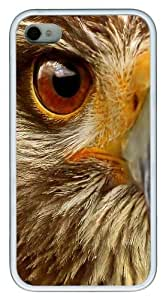 iPhone 4s Case & Cover - Hawk Face Custom Design TPU Case Cover for iPhone 4/4s White