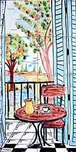 Amazon.com: Decorative Italian Tiles: Hand Painted Mosaic ...
