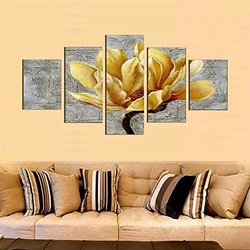 YELLOW FLOWERS BUTTERFLY CANVAS WALL ART PICTURES FRAMED PRINTS FLORAL POSTERS