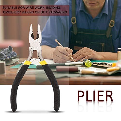 Bijoux en acier forg/é durable portatif au carbone durable faisant des perles Mini pince outil rond long nez Multicolore