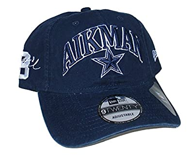 Dallas Cowboys Troy Aikman #8 New Era Adjustable One Size Fits Most Hat Cap - Navy Blue by New Era Cap Company, Inc.