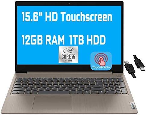 2021 Flagship Lenovo Ideapad 3 Laptop Computer 15.6″ HD Touchscreen Display Intel Quad-Core i5-10210U(Beats i7-8550U) 12GB RAM 1TB HDD Webcam WiFi HDMI Dolby Win 10 + iCarp HDMI Cable