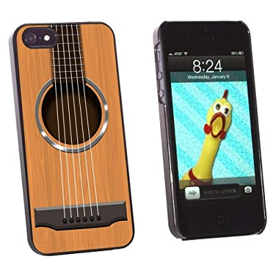 Graphics and More Acoustic Guitar Strings Snap-On Hard Protective Case for Apple iPhone 5/5s - Non-Retail Packaging - Black