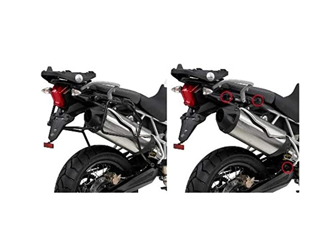 Amazon.com: GIVI PLR6409 Rapid Release Tubular Side-Case Holder - Triumph Tiger 800/XC/XR: Automotive