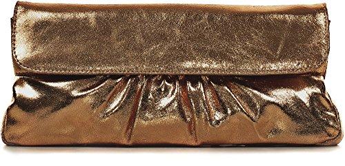 2 cm bronze Sac Cuir x 15 CNTMP Effet Clutch x Femme Pochette Main porté 31 Main à Soirée Métallique Sac 5 qTnHRn