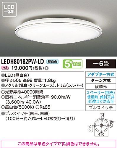 東芝ライテック LEDシーリングライト HAKUGETSU (白月) ON/OFFプルスイッチ付 アクリル 電球色 12畳 B00ZZ4AP3I 12畳