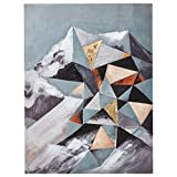 Modern Geometric Abstract Mt. Ranier on Canvas, 18'' x 24''