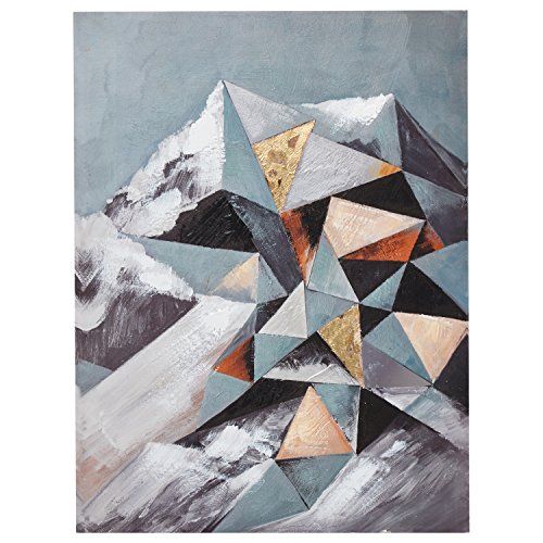 Urban Living Modern Geometric Abstract Mt. Ranier on Canvas 51 zJXGWS2L