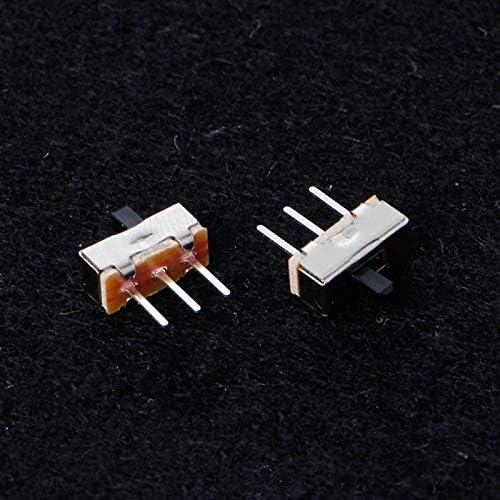 10 Pcs 2 Position On//Off SPDT 1P2T 3 Pin PCB Panel Mini Vertical Slide Switch SS12D00G3