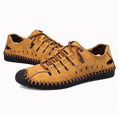 estivi pelle Size pelle da 46 uomo Sandali in Nero Large Scarpe Pescatore Scarpe sportive uomo Khaki Beach Shoes 38 da Cachi Marrone outdoor trekking Pakamo NANXIE per R7YE0xnpw