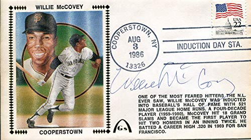 - Willie McCovey Autographed First Day Cover