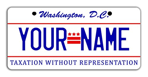 BleuReign(TM) Personalized Custom Name Washington DC State Bicycle Bike Moped Golf Cart 3