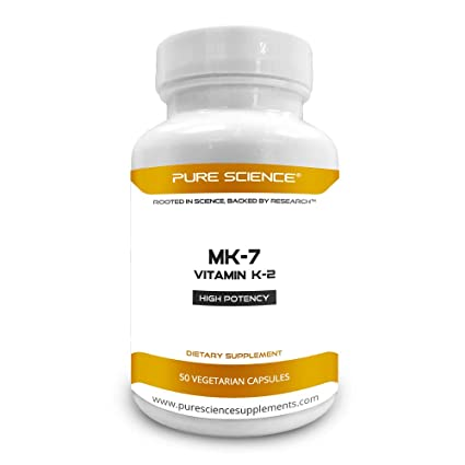 Pure Science Vitamina K2 (MK-7) como Menaquinone-7 (extracto natto