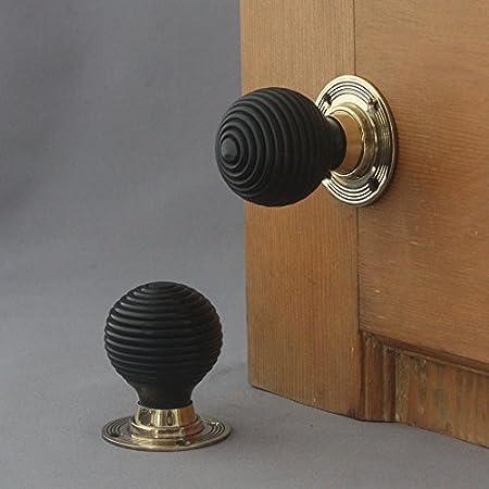 Solid Ebony Beehive Door Knobs: Amazon.co.uk: DIY & Tools