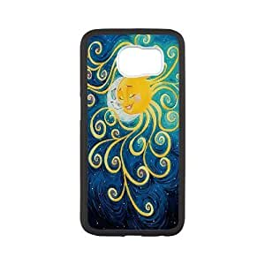 Personality customization Custom Moon and Sun Back Case for SamSung Galaxy S6, Personalized Moon and Sun S6 Hard Back Case, Moon and Sun Galaxy S6 Phone Case By PLUS6A Case