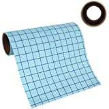"""Angel Crafts 12"""" by 8' CLEAR Transfer Paper Tape Roll w/Grid - PERFECT ALIGNMENT of Cricut or Silhouette Cameo Self Adhesive Vinyl for Walls, Signs, Decals, Windows, and More."""